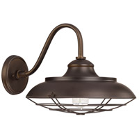 Capital Lighting Barn Style 1 Light Outdoor Wall Lantern in Burnished Bronze 4562BB