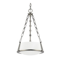East Village 2 Light 13 inch Aged Nickel Pendant Ceiling Light