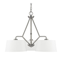 Capital Lighting East Village 3 Light Chandelier in Aged Nickel 4583AN-585