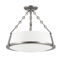 Capital Lighting East Village 3 Light Semi-Flush in Aged Nickel 4585AN-588