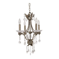 Capital Lighting Signature 4 Light Mini Chandelier in Antique Silver 4600AS-000