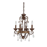 Capital Lighting Signature 4 Light Chandelier in Dark Spice 4608DS