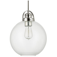 Capital Lighting Signature 1 Light Mini-Pendant in Polished Nickel 4641PN-136