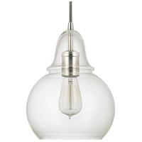 Capital Lighting 4644PN-143 Signature 1 Light 8 inch Polished Nickel Mini-Pendant Ceiling Light