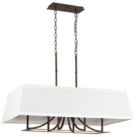 Parker 6 Light 36 inch Burnished Bronze Island Light Ceiling Light