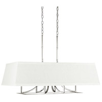 Parker 6 Light 36 inch Polished Nickel Island Light Ceiling Light