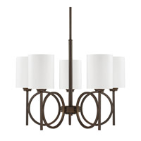 Capital Lighting Halo 5 Light Chandelier in Burnished Bronze 4675BB-590