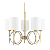 Capital Lighting Halo 5 Light Chandelier in Winter Gold 4675WG-590