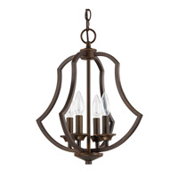 Capital Lighting Sydney 4 Light Foyer Pendant in Burnished Bronze 4694BB