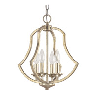 Capital Lighting Sydney 4 Light Foyer Pendant in Winter Gold 4694WG