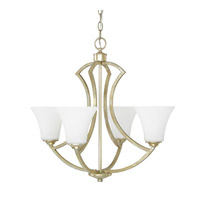 Capital Lighting Sydney 4 Light Chandelier in Winter Gold with Soft White Glass 4697WG-145