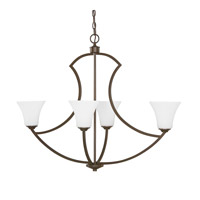 Capital Lighting Sydney 4 Light Island in Burnished Bronze with Soft White Glass 4698BB-145