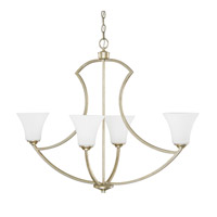 Capital Lighting Sydney 4 Light Island in Winter Gold with Soft White Glass 4698WG-145