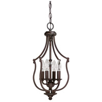 Capital Lighting Leigh 4 Light Foyer in Burnished Bronze with K9 Crystal 4704BB