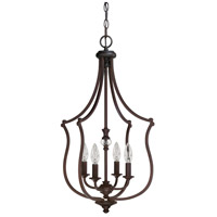 Capital Lighting Leigh 4 Light Foyer in Burnished Bronze with K9 Crystal 4705BB