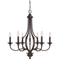 Capital Lighting Leigh 6 Light Chandelier in Burnished Bronze with K9 Crystal 4706BB-000