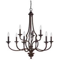 Capital Lighting 4709BB-000 Leigh 9 Light 34 inch Burnished Bronze Chandelier Ceiling Light