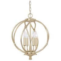Capital Lighting Bailey 4 Light Pendant in Winter Gold 4723WG