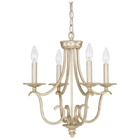 Capital Lighting Bailey 4 Light Mini Chandelier in Winter Gold 4724WG-000