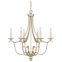 Bailey 6 Light 28 inch Winter Gold Chandelier Ceiling Light
