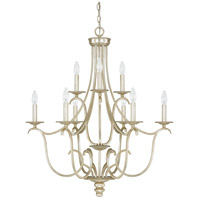Capital Lighting Bailey 9 Light Chandelier in Winter Gold 4729WG-000