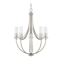 Capital Lighting Emery 5 Light Chandelier in Brushed Nickel with Clear Glass 4735BN-150