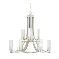 Capital Lighting Emery 9 Light Chandelier in Brushed Nickel with Clear Glass 4739BN-150