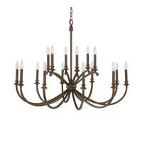 Capital Lighting Alexander 16 Light Chandelier in Burnished Bronze 4740BB-000