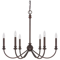 Capital Lighting 4746BB-000 Alexander 6 Light 28 inch Burnished Bronze Chandelier Ceiling Light