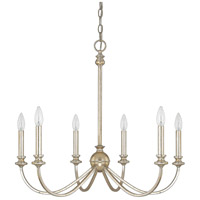 Alexander 6 Light 28 inch Winter Gold Chandelier Ceiling Light