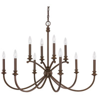 Alexander 10 Light 36 inch Burnished Bronze Chandelier Ceiling Light