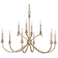Alexander 10 Light 36 inch Winter Gold Chandelier Ceiling Light