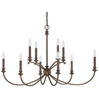 Alexander 10 Light 41 inch Burnished Bronze Chandelier Ceiling Light