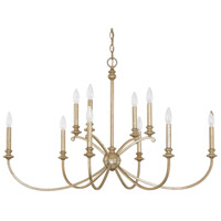 Alexander 10 Light 41 inch Winter Gold Chandelier Ceiling Light