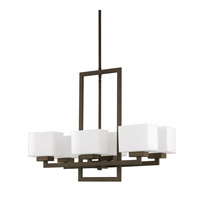 Capital Lighting Tahoe 6 Light Chandelier in Burnished Bronze with Milk Glass 4756BB-155