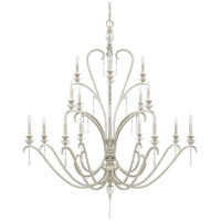 Capital Lighting Celine 16 Light Chandelier in Antique Silver with Seeded Crystals 4780AS-000