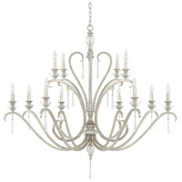 Capital Lighting Celine 12 Light Chandelier in Antique Silver with Seeded Crystals 4782AS-000