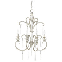 Capital Lighting Celine 4 Light Foyer in Antique Silver with Seeded Crystals 4784AS-000