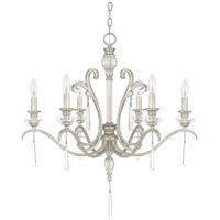 Capital Lighting Celine 6 Light Chandelier in Antique Silver with Seeded Crystals 4786AS-000