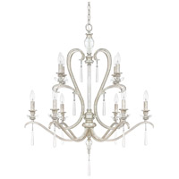 Capital Lighting Celine 10 Light Chandelier in Antique Silver with Seeded Crystals 4788AS-000