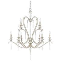 Capital Lighting 4788AS-000 Celine 10 Light 33 inch Antique Silver Chandelier Ceiling Light