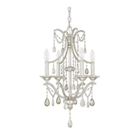 Signature 4 Light 15 inch Antique Silver Mini Chandelier Ceiling Light