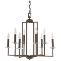 Capital Lighting Morgan 8 Light Chandelier in Burnished Bronze with K9 Crystal 4817BB