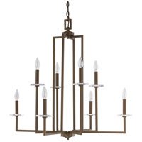 Capital Lighting Morgan 8 Light Chandelier in Burnished Bronze with K9 Crystal 4818BB