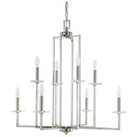 Capital Lighting Morgan 8 Light Chandelier in Polished Nickel with K9 Crystal 4818PN