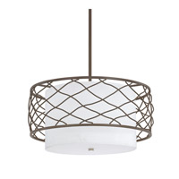 Capital Lighting Sawyer 3 Light Pendant in Burnished Bronze with White Fabric Shade 4833BB-612