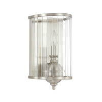 Capital Lighting Hamilton 1 Light Sconce in Brushed Nickel with Clear Glass 4841BN