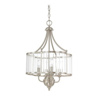 Capital Lighting Hamilton 4 Light Pendant in Brushed Nickel with Clear Glass 4844BN