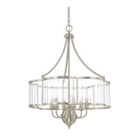 Capital Lighting Hamilton 6 Light Chandelier in Brushed Nickel with Clear Glass 4846BN