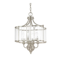 Capital Lighting Hamilton 4 Light Pendant in Brushed Nickel with Clear Glass 4847BN